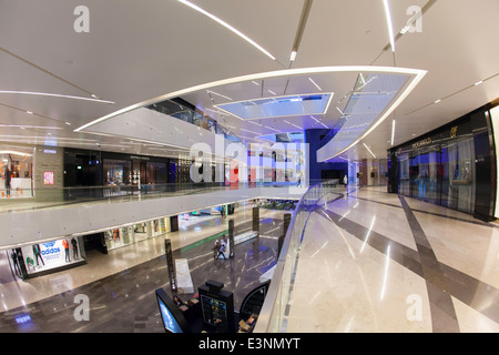Kuwait City, Al Hamra Tower, includes a luxury business and shopping center completed in 2011 - Stock Photo