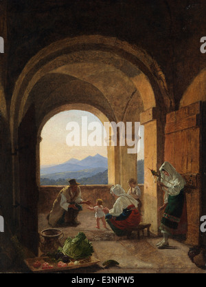 Franz Ludwig Catel - First Steps - 1825 - Stock Photo