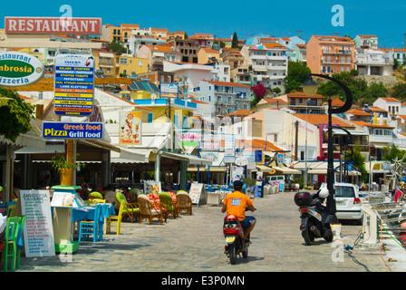 Seaside promenade, Pythagoreio, Samos, Aegean Sea,Greece, Europe - Stock Photo