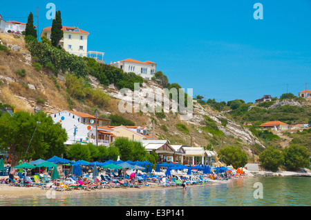 Main beach, Pythagoreio, Samos island, Greece, Europe - Stock Photo
