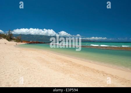 Beautiful empty beach on Hawaii - Stock Photo