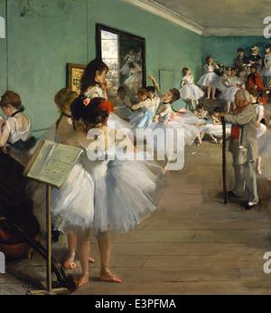 Edgar Degas - The Dance Class - 1874 - MET Museum - New-York - Stock Photo