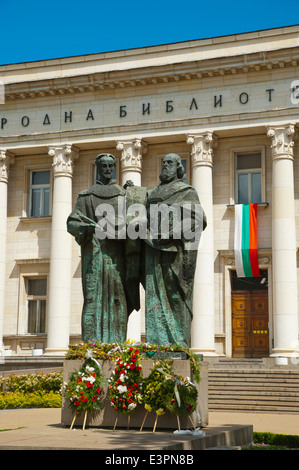 National Library of Cyril and Methodius, central Sofia, Bulgaria, Europe - Stock Photo