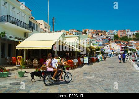 Seaside promenade, Pythagoreio, Samos, Aegean Sea, Greece, Europe - Stock Photo