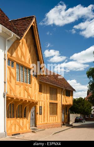 UK England, Suffolk, Lavenham, Market Square, C15th Little Hall - Stock Photo