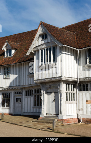 UK England, Suffolk, Lavenham, Market Square, Guildhall of Corpus Christi - Stock Photo