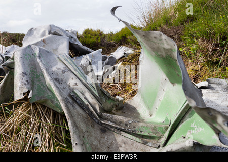 Remains of a Blenheim Mk1, L1252 Aircraft Which Crashed in Bad Weather on 26th October 1938 Lunedale, County Durham. - Stock Photo