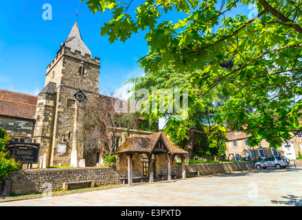 St Mary Maydalene & St Denys church in Midhurst, West Sussex - Stock Photo