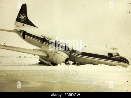 Convair 240 Crash - Stock Photo