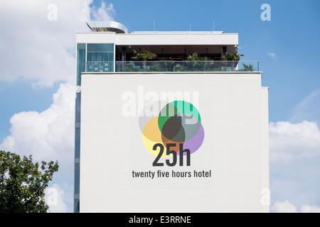 New Twenty Five Hours Hotel (25h) in Bikini Haus beside new Bikini Berlin shopping centre in Charlottenburg  Berlin - Stock Photo