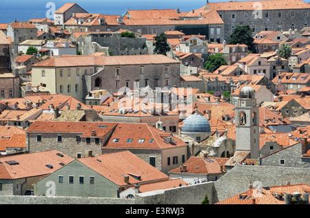 Dubrovnik city rooftops, Croatia - Stock Photo