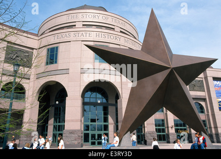 'The Story of Texas' is told with three floors of interactive exhibits at the Texas State History Museum in Austin, - Stock Photo