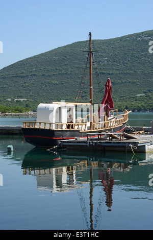 Orebic harbor, Dalmatian coast, Croatia - Stock Photo