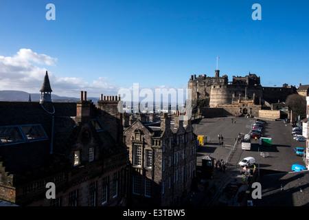 Edinburgh's Castle view from Camera Obscura building - Stock Photo