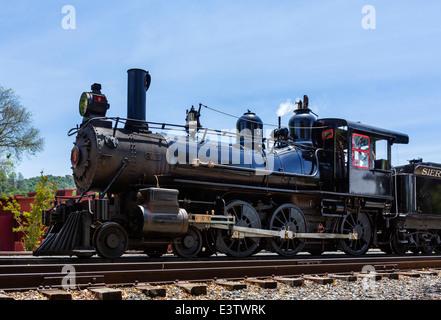 Steam locomotive Sierra No 3, Railtown 1897 State Historic Park, Jamestown, S'thn Gold Country, Tuolumne County, - Stock Photo
