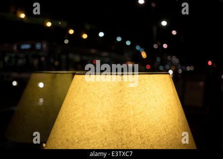 A lamp at a pub in Edinburgh - Stock Photo