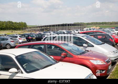 Car park and new visitors centre Stonehenge  Wiltshire, England - Stock Photo