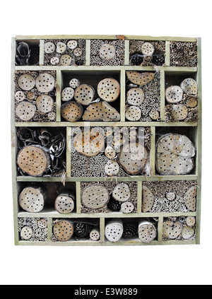 Bug House Providing Nesting Holes for A Variety Of Minibeasts - Stock Photo