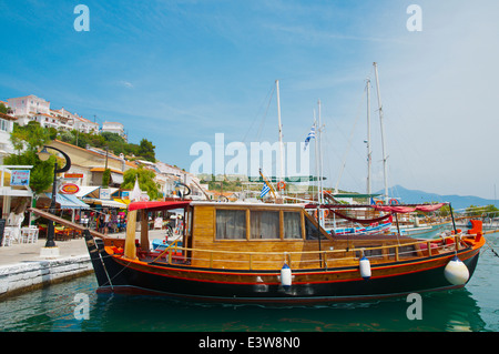 Boats, Port, Pythagoreio, Samos island, Greece, Europe - Stock Photo