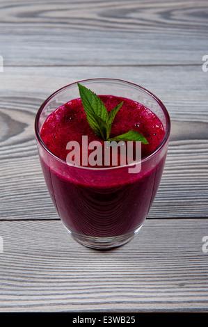 Beet root smoothie - Stock Photo