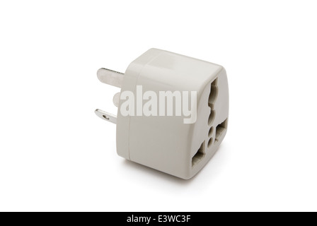 universal adapter with clipping path - Stock Photo