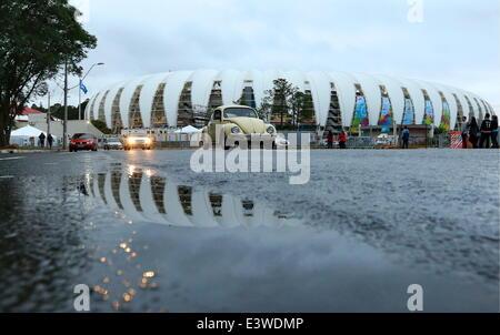 Porto Alegre, Brazil. 30th June, 2014. An outside view of Beira Rio stadium in Porto Alegre. © Valery Sharifulin/ITAR - Stock Photo