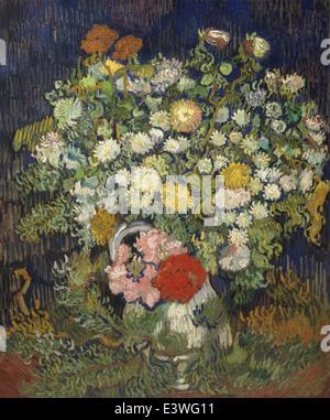 Vincent van Gogh - Bouquet of Flowers in a Vase - 1890 - MET Museum - New-York - Stock Photo