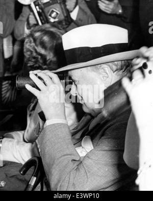 Sir Winston Churchill at Hialeah Park horse race - Miami