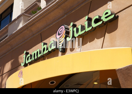 Jamba Juice healthy drinks store on main street Huntington Beach California - Stock Photo