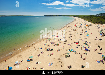 South beach, The Burrows, Tenby, Wales. - Stock Photo