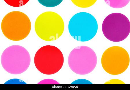 Polka dot bright colored circles - Stock Photo