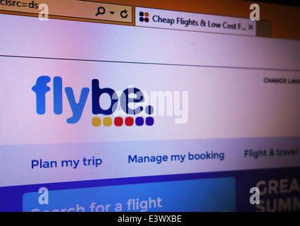 flybe web site - Stock Photo