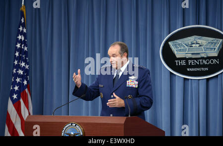 Washington, DC, USA. 30th June, 2014. NATO's top military commander General Philip Breedlove speaks during a press - Stock Photo