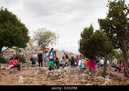 the cross mountain, medugorje, bosnia and herzegovina, europe - Stock Photo