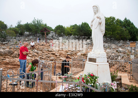 apparition hill, medugorje, bosnia and herzegovina, europe - Stock Photo