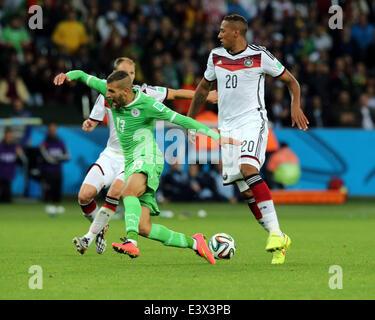 Porto Alegre, Brazil. 30th June, 2014. World Cup 2nd Round. Germany versus Algeria. Slimani loses the ball against - Stock Photo