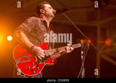 Milwaukee, Wisconsin, USA. 29th June, 2014. Country artist DAVID NAIL performs live at the 2014 Country USA Music - Stock Photo