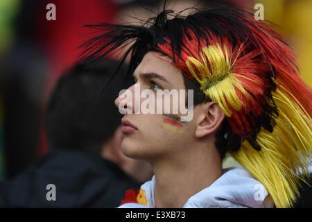 Porto Alegre, Brazil. 30th June, 2014. PORTO ALEGRE, 30.06.2014: BRAZIL: german supporter in match between Germany - Stock Photo