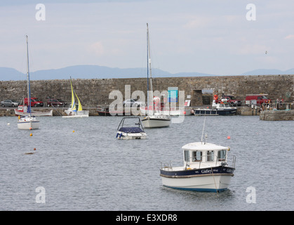 Fishing boats and pleasure craft in Mullaghmore harbour in County Sligo Ireland - Stock Photo