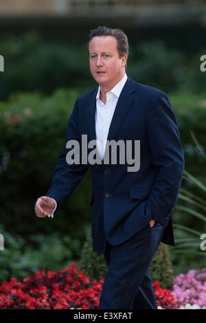 London, UK. 1st July, 2014. Prime Minister David Cameron arrives at 10 Downing Street for a Cabinet meeting on Tuesday, - Stock Photo