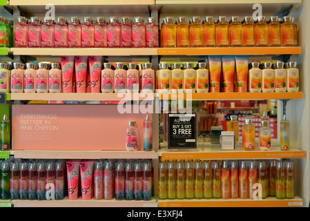 Scented soaps   perfumes for sale at a Bath   Body Works store on  Austin Street. Scented soaps for sale at a Bath   Body Works store in the