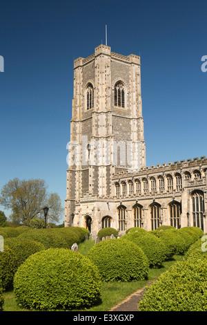UK England, Suffolk, Lavenham, Parish Church of St Peter and St Paul - Stock Photo
