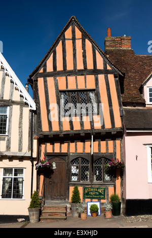 UK England, Suffolk, Lavenham, High Street, the Crooked House - Stock Photo