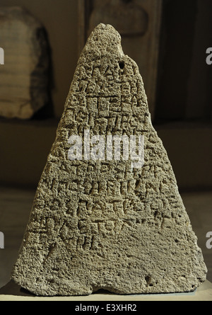Pyramidal Grave Stele. 5th century BC. Limestone. From Sinope (Sinop). Archaic Period. Archaeological Museum. Istanbul. - Stock Photo