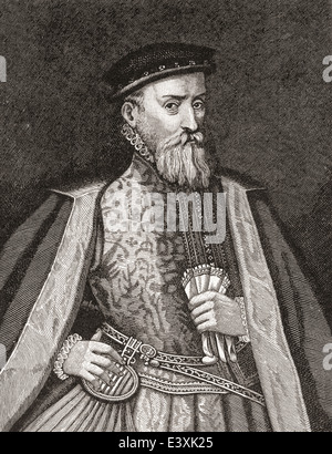 Sir Thomas Gresham, c. 1519 –1579, aka Thomas Gresham the Elder. English merchant and financier. - Stock Photo