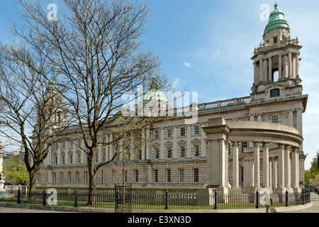 Belfast City Hall, the civic building of the Belfast City Council, Donegall Square, Belfast, County Antrim, Northern - Stock Photo