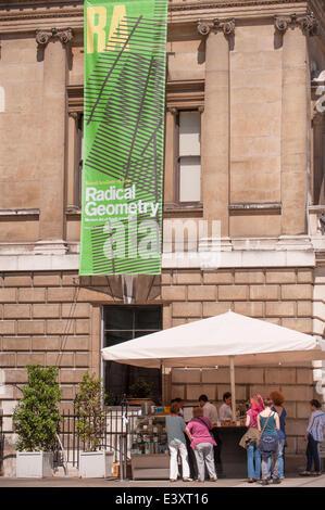 Royal Academy of Arts, Burlington House, Piccadilly, London UK. 1st July 2014. Radical Geometry: Modern Art of South - Stock Photo