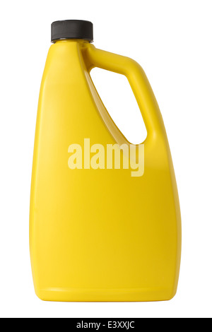 Yellow plastic bottle - Stock Photo
