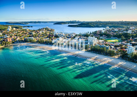 Aerial view of Sydney cityscape, Sydney, New South Wales, Australia - Stock Photo