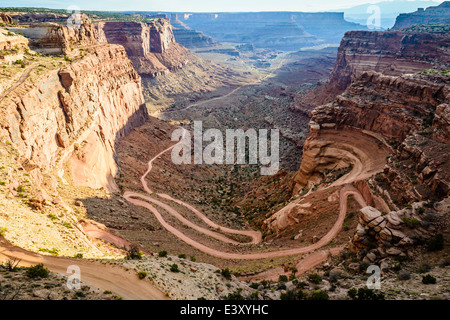 Aerial view of rock formations, Canyonlands, Utah, United States - Stock Photo